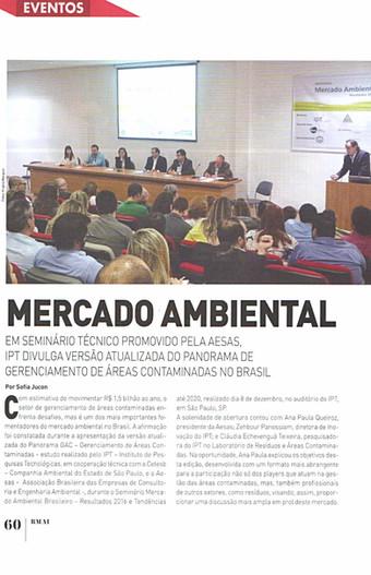 A AESAS, em parceria com IPT realizou workshop sobre o Mercado Ambiental. O evento foi coberto pela