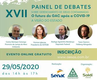 """XVII edição do """"Painel de Debates sobre Gerenciamento de Áreas Contaminadas - """"O futuro do"""