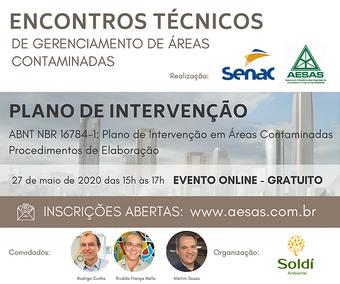 ENCONTROS TÉCNICOS DE GERENCIAMENTO DE ÁREAS CONTAMINADAS - PLANO DE INTERVENÇÃO