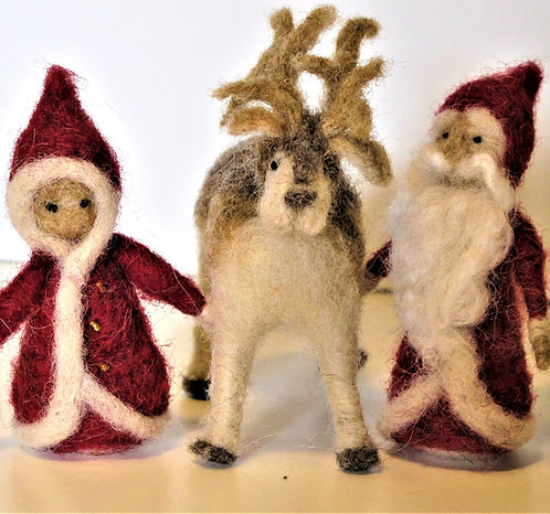 Sm. Icelandic Reindeer (shown with the Santa Gnomes)