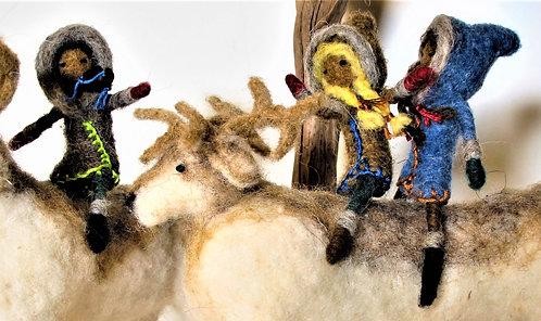 Sami Reindeer Riders (#1-Shown on Reindeer;#2-Shown with little elves)