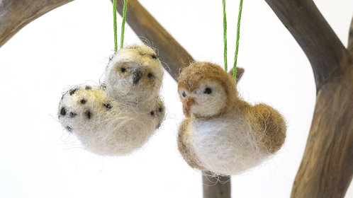Owl Bird Ornaments  (sold individually)