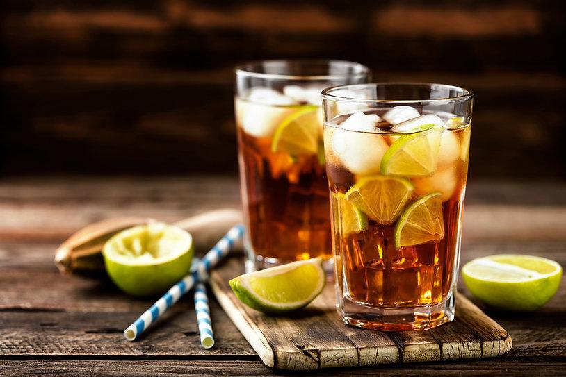 Cuba Libre or long island iced tea cockt