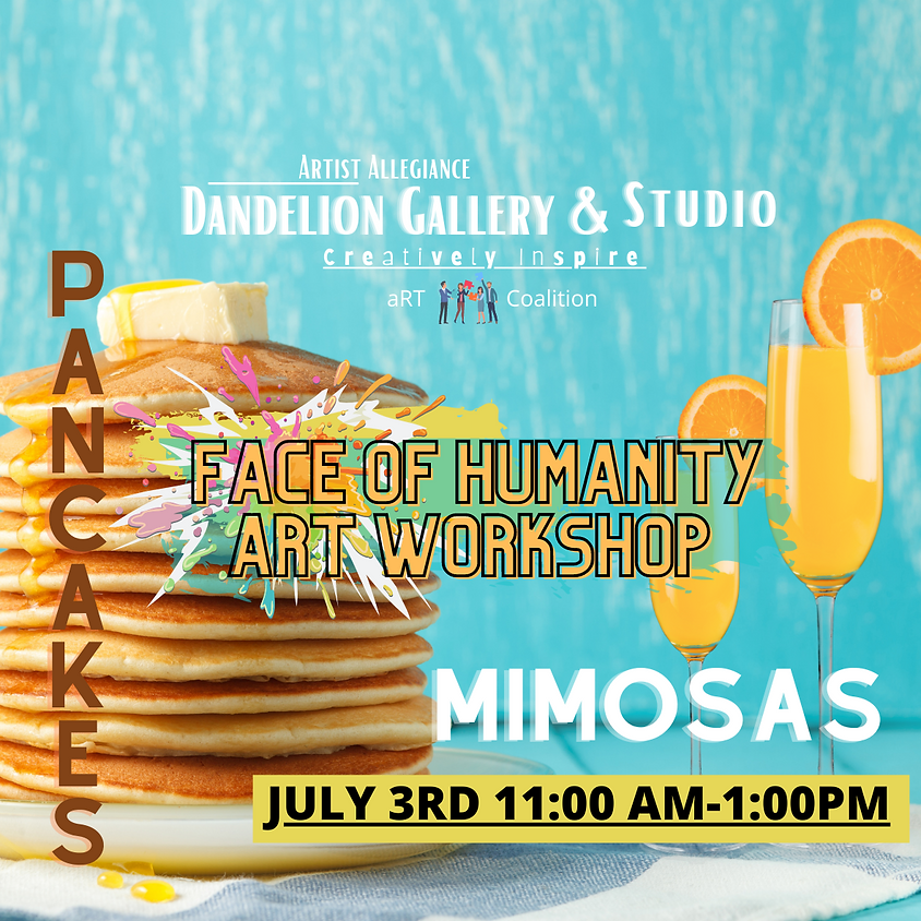 Face of Humanity Pancakes and Mimosas