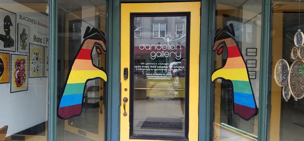 Dandelion Gallery Door Front