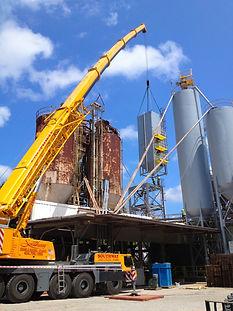 Industrial Silo Installation, Industrial silo erection