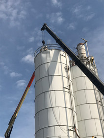 Damaged Silo Removal
