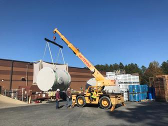 Fiberglass Tank Installation