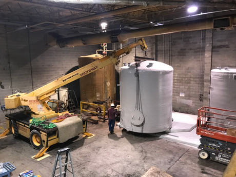 Installation of fiberglass Tank