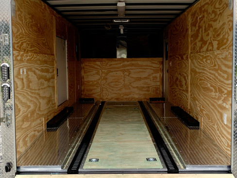 Gooseneck Car Hauler w/ Interior Riser Decks