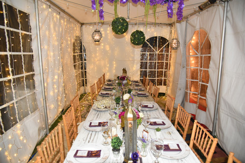 Tented Dinner Party