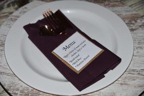 Custom Dinner Menu