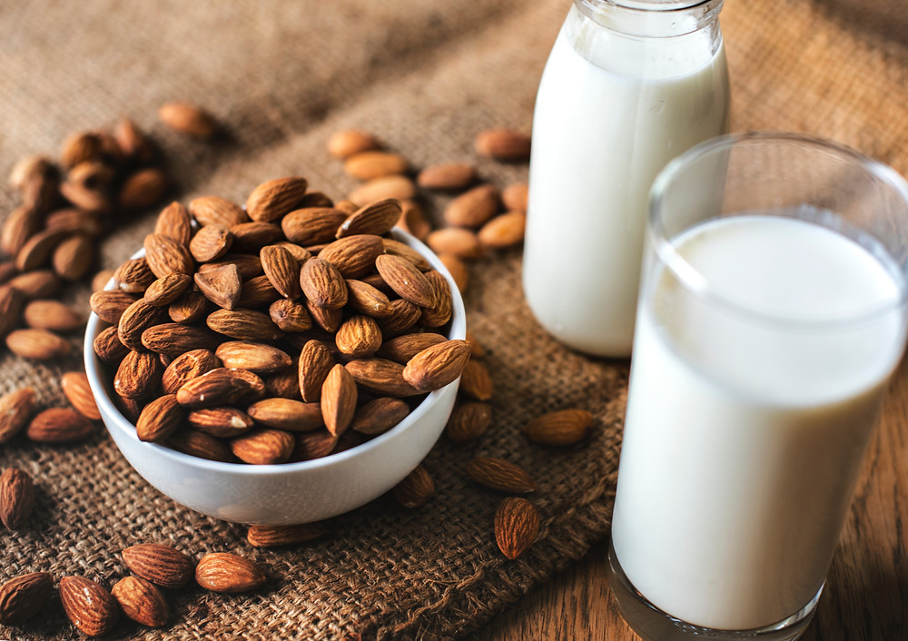 Picture of almond milk - Photo by rawpixel on Unsplash