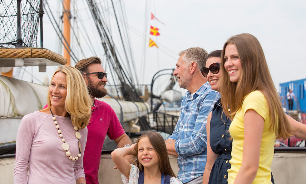 Family Visit to Portsmouth Historic Dockyard one year
