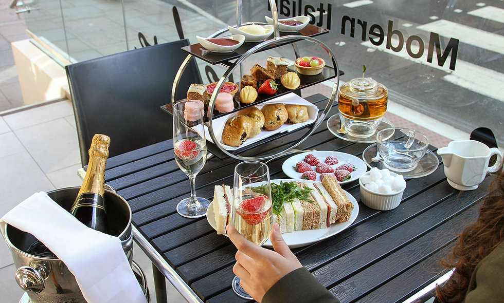 Champagne Afternoon Tea for Two at Ambassadors Bloomsbury, London