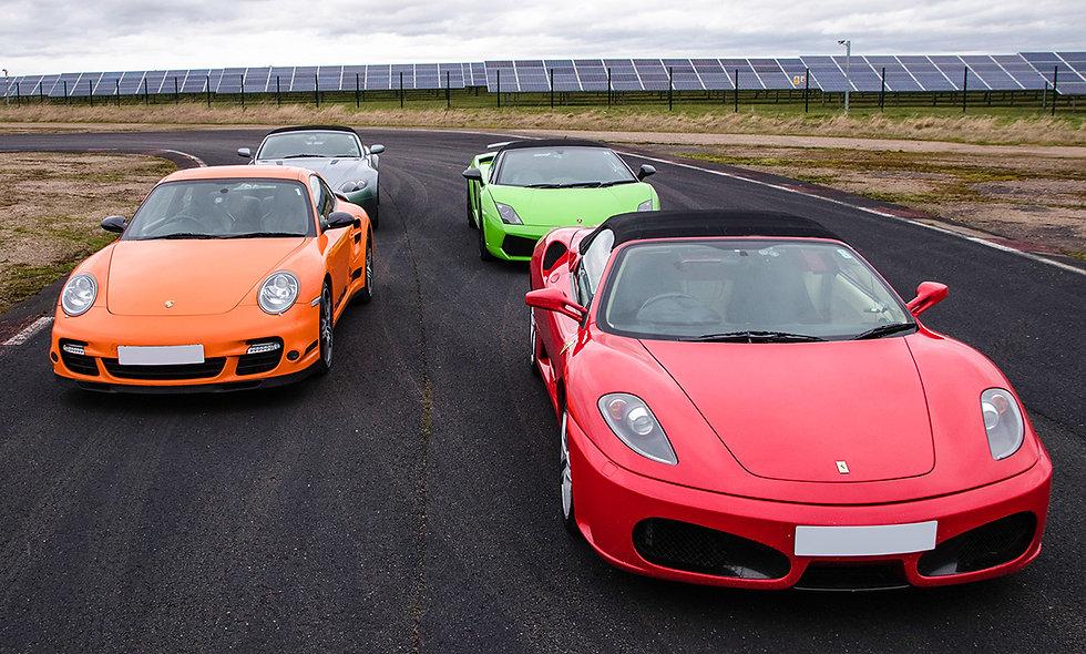 Four Supercar Blast at Top UK Race Tracks