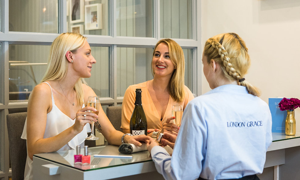 Hunky Dory Manicure with Pink Fizz for Two at London Grace