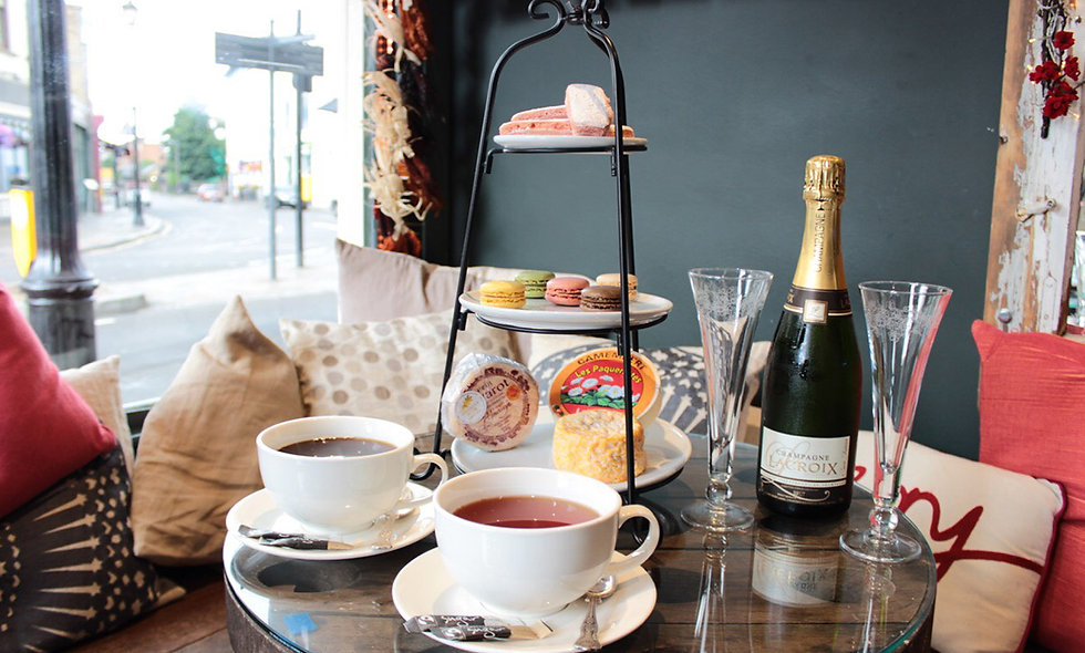 Champagne Afternoon Tea for Two at a Champagne + Fromage