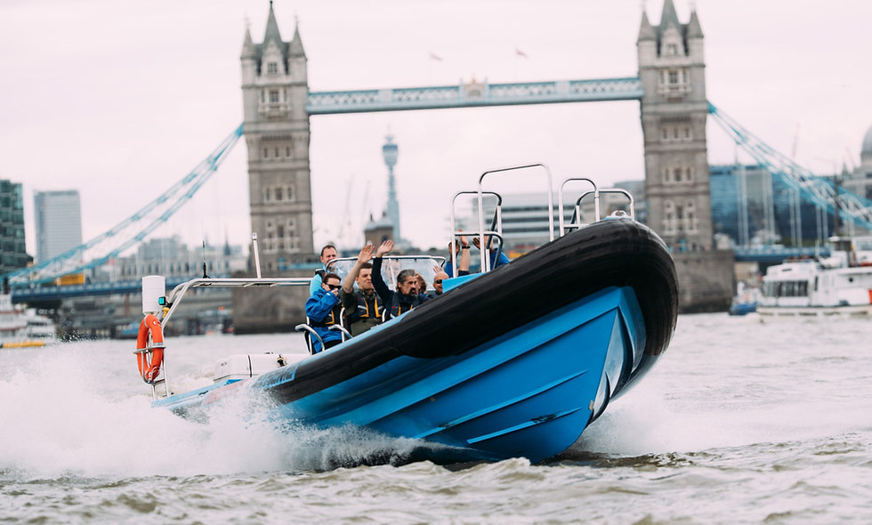 Thames Jet Boat Rush and Three Course Meal for Two