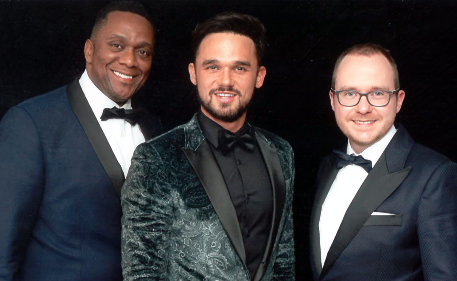 Harold & Jamie with Gareth Gates