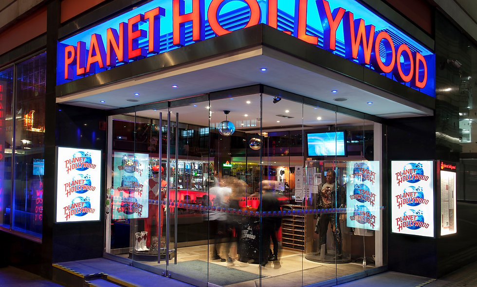 Two Course Meal with Wine for Two at Planet Hollywood