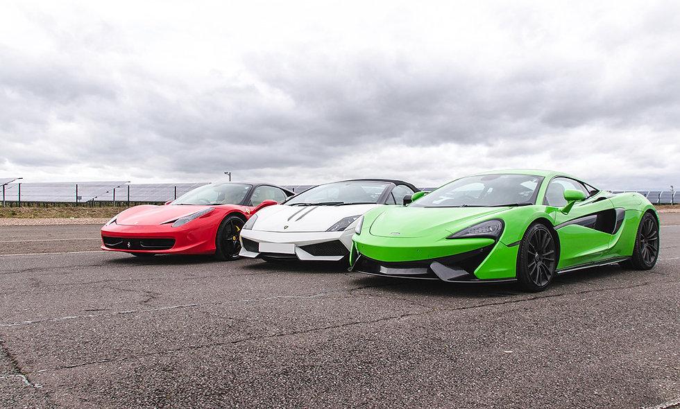 Triple Platinum Supercar Blast plus High Speed Passenger Ride