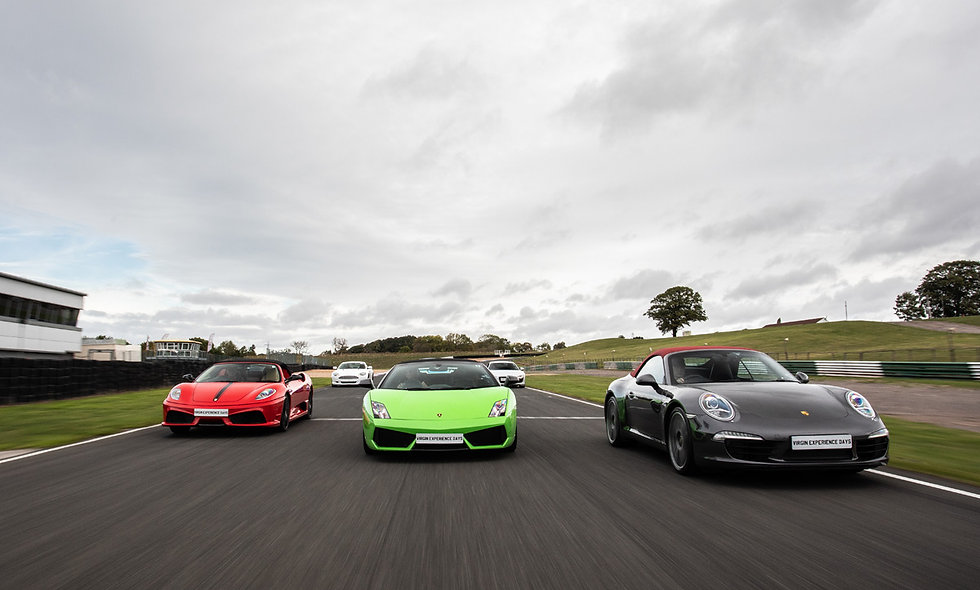 Five Supercar Thrill plus High Speed Passenger Ride