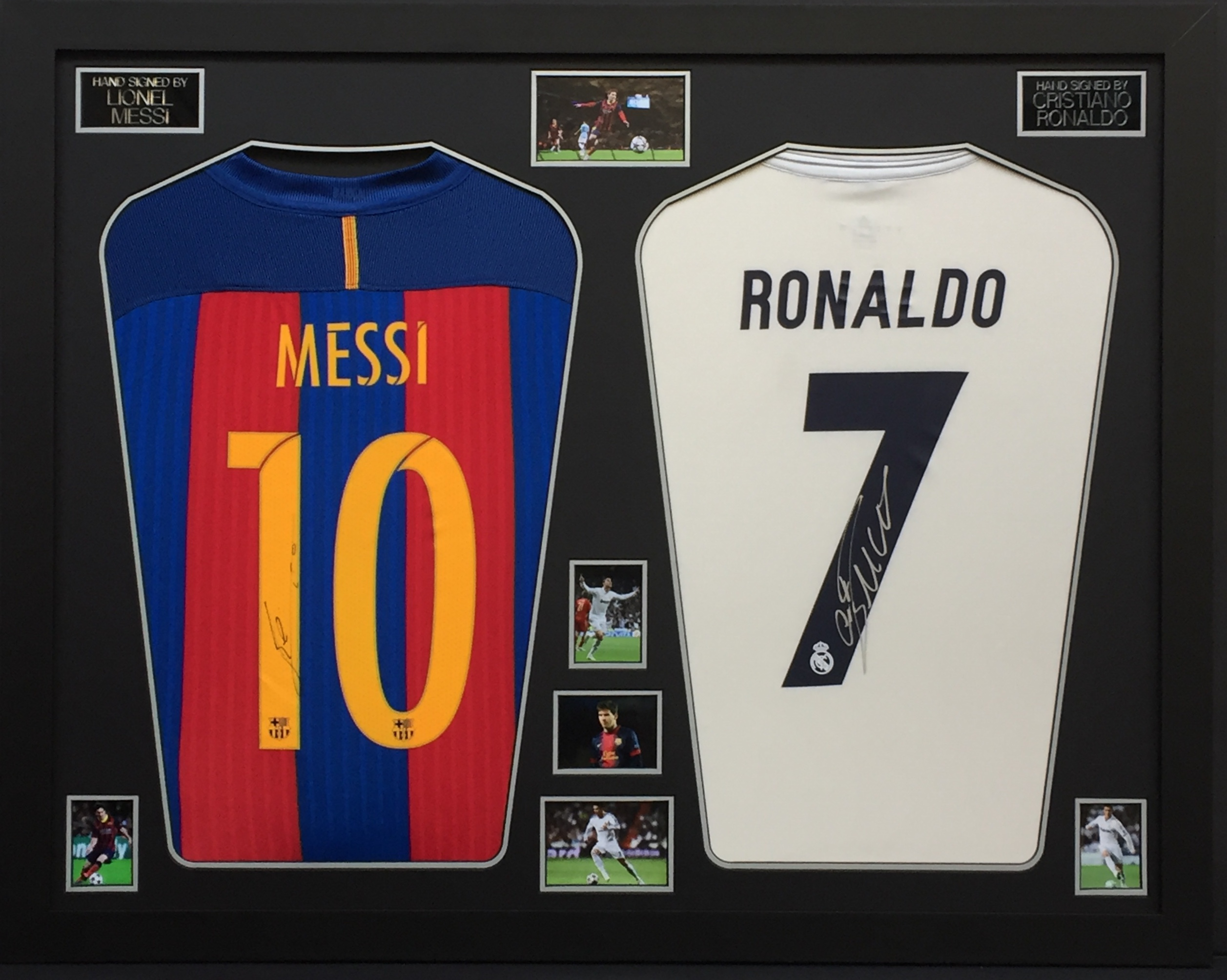san francisco 89321 71b3a Ronaldo and Messi Double Framed Shirts