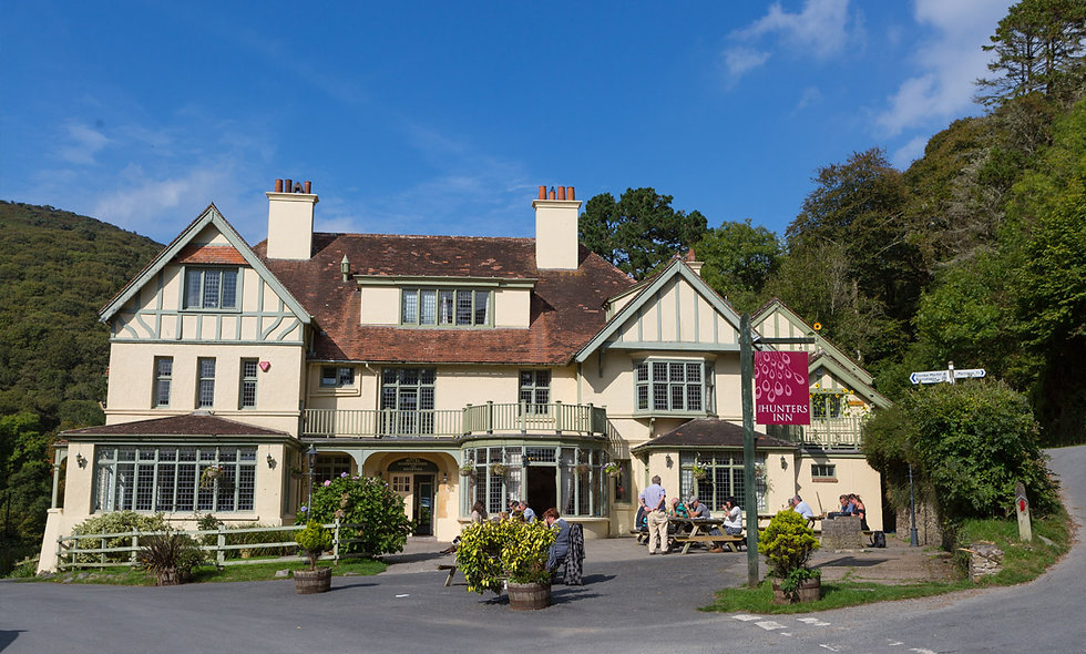 One Night Exmoor National Park Break with Dinner at the Hunters Inn