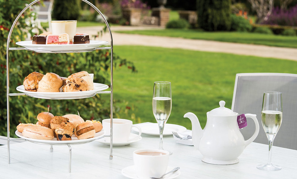 Champagne Afternoon Tea for Two at the 4* Luxury Barnett Hill Hotel