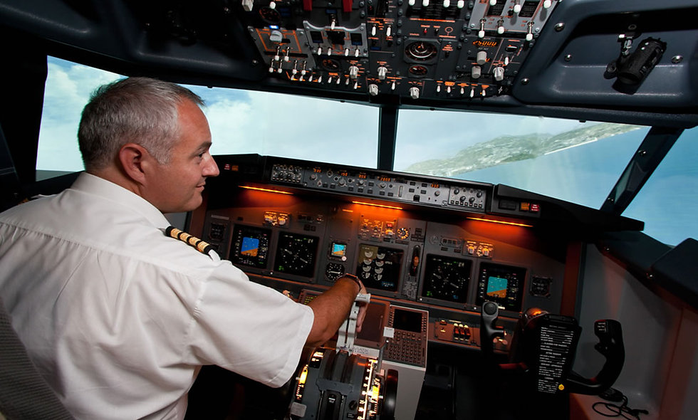 Flight Simulator Experience Aboard a Boeing 737