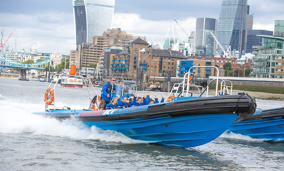 Thames Jet Boat Rush and Skyline Views and The Slide at the ArcelorMittal