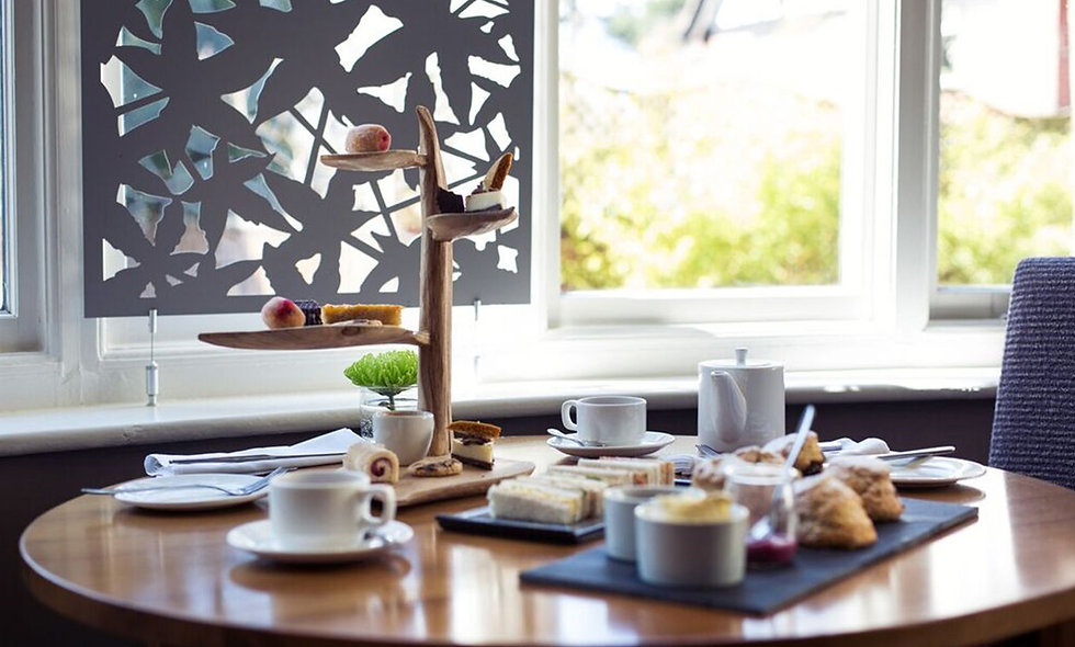 Afternoon Tea for Two at the Two AA Rosette Arbor