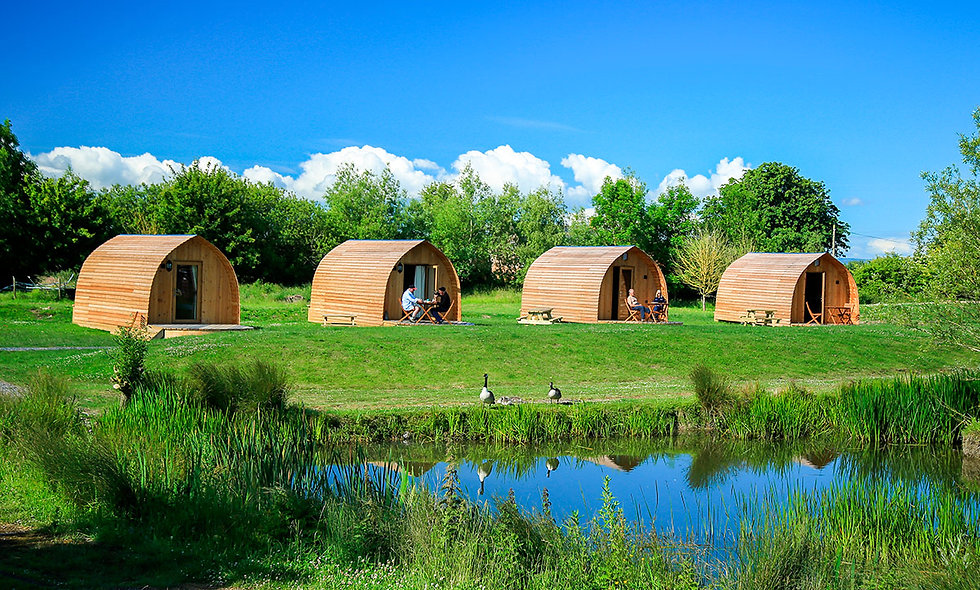Two Night Somerset Escape in the Strawberry or Raspberry Glamping Pod
