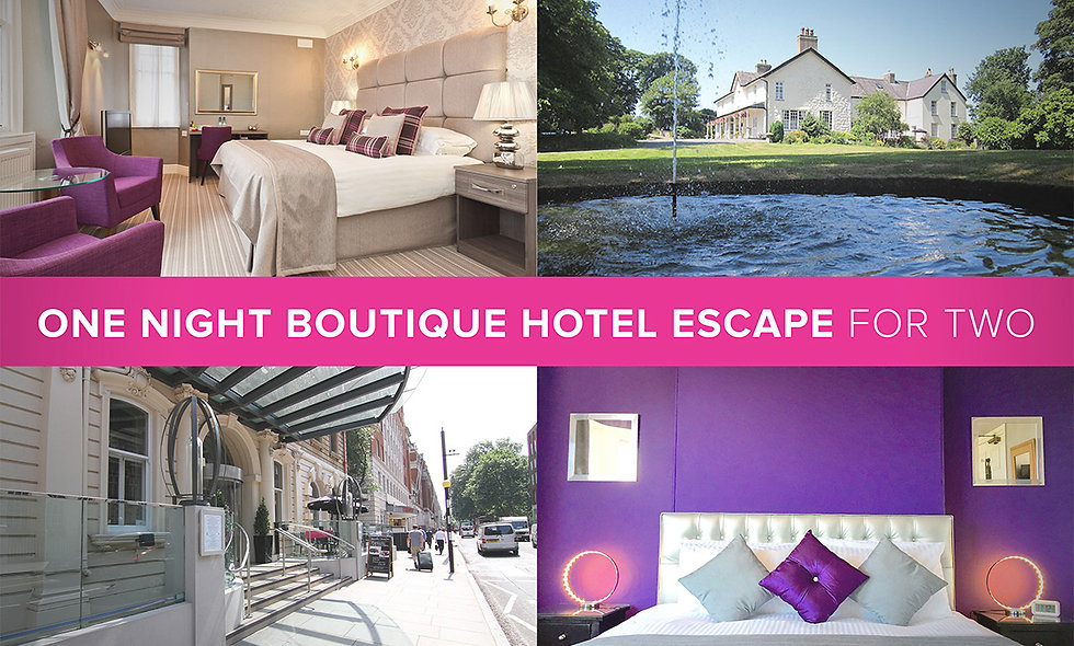 One Night Boutique Hotel Escape for Two