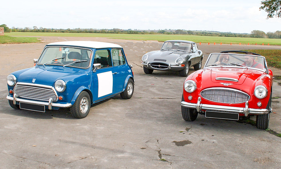 Triple Classic Car Drive plus High Speed Passenger