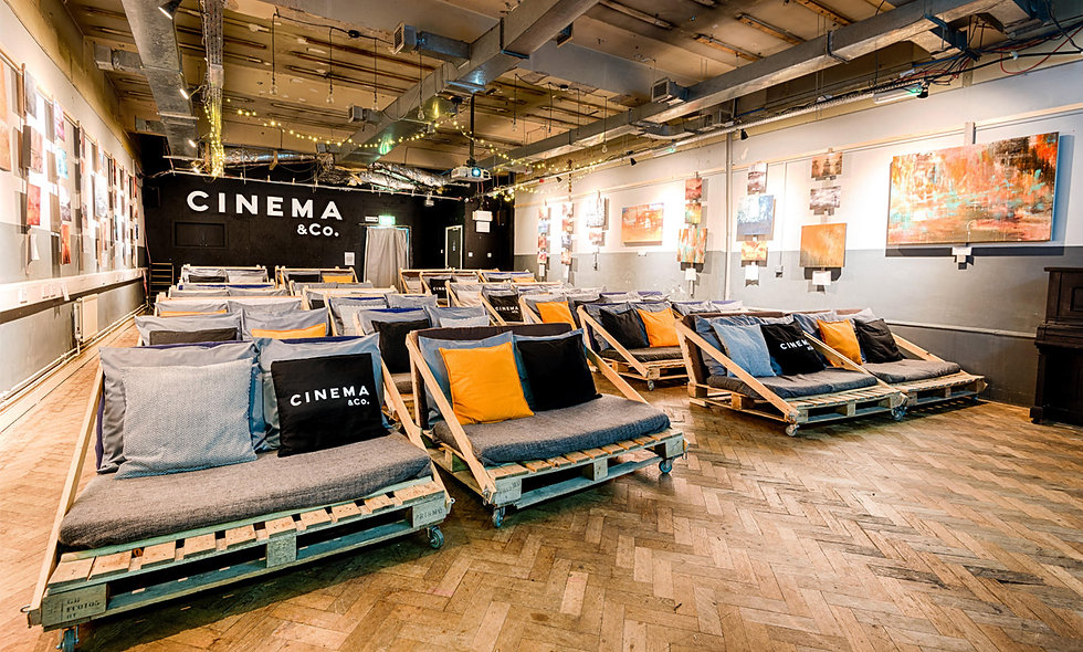 Unique Cinematic Experience with Popcorn, Pizza, Wine and Brownies