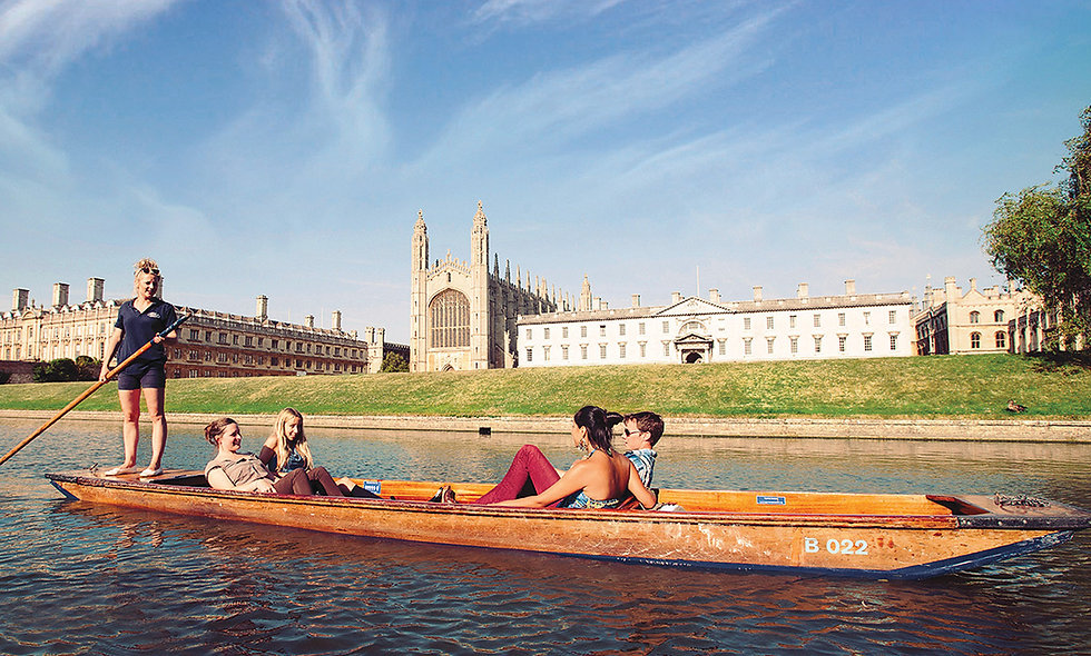 Chauffeured Cambridge Punting Tour and Three Course Meal