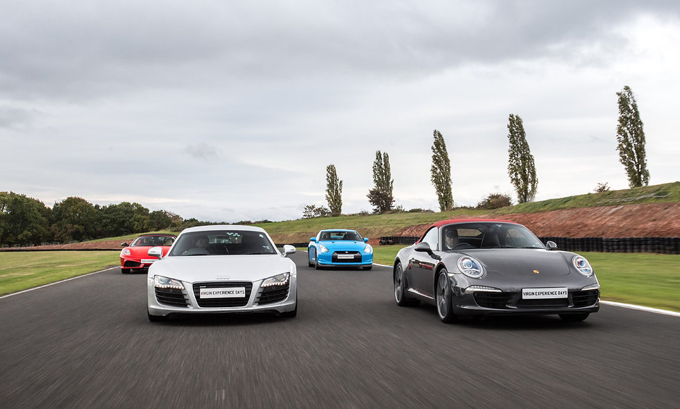 Four Supercar Thrill plus High Speed Passenger Ride