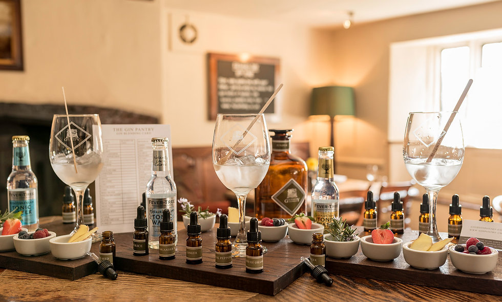 One Night Break and Gin Blending Board for Two at The Cotsold Plough