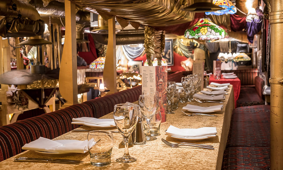 Two Course Dining Experience with Champagne and Live Entertainment