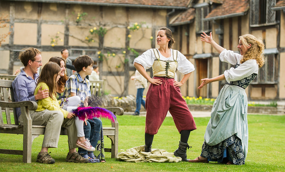 Visit Shakespeares Birthplace and Three Course Meal for Two