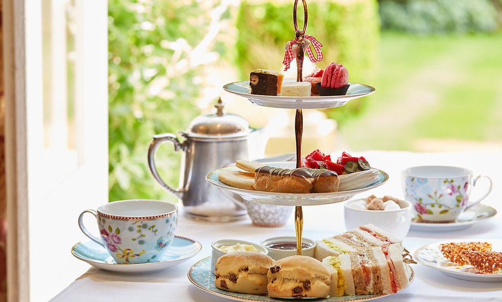 Champagne Afternoon Tea for Two at the Luxury Ockenden Manor Hotel