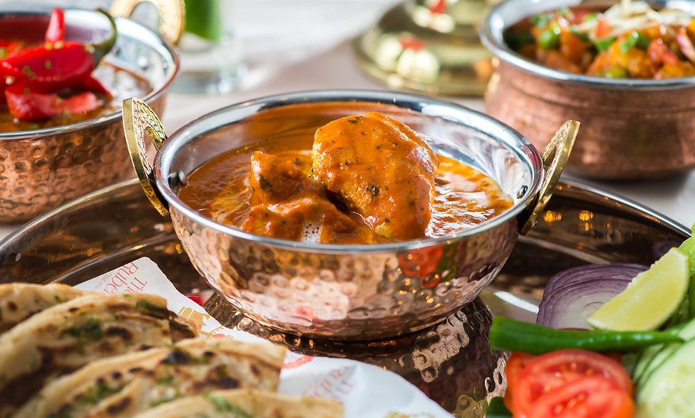Three Course Dinner for Two at the Luxurious Curry at Rubens