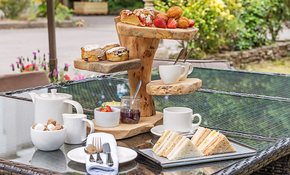 Champagne Afternoon Tea for Two at the Two AA Rose Arbor Restaurant, Brighton