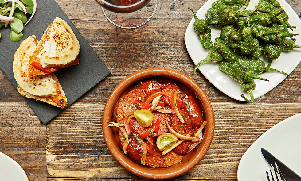Sharing Spanish Tapas Meal for Two at Camino, London