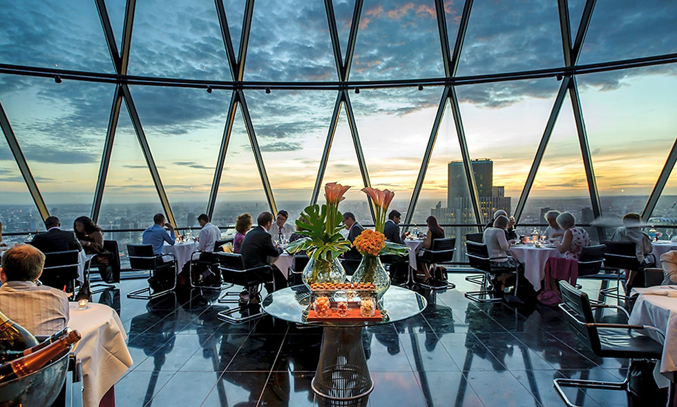 Six course tasting menu with a bottle of Champagne at London's Gherkin