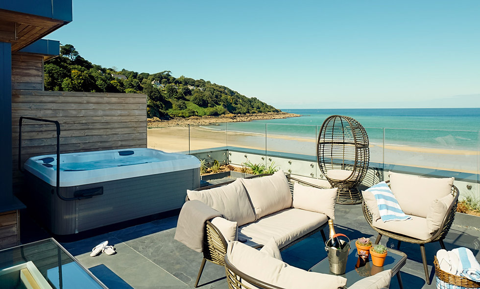 One Night Escape in a Luxury Beach Lodge with Hot Tub