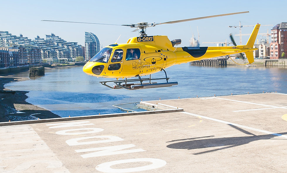 Central London Helicopter Flight and Lunch at Gordon Ramsey's London House