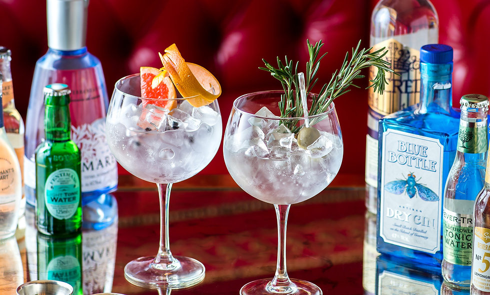 Gin Tasting with Sharing Dishes for Two at the 4* Rubens, London